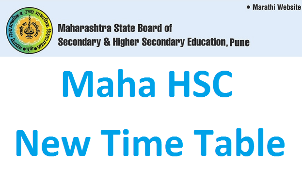 Maharashtra HSC new time table