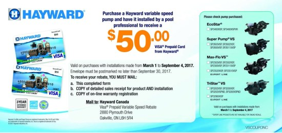 Variable Speed Pump Rebate