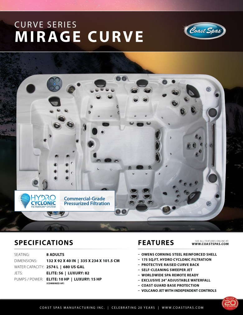 Mirage Curve Spa