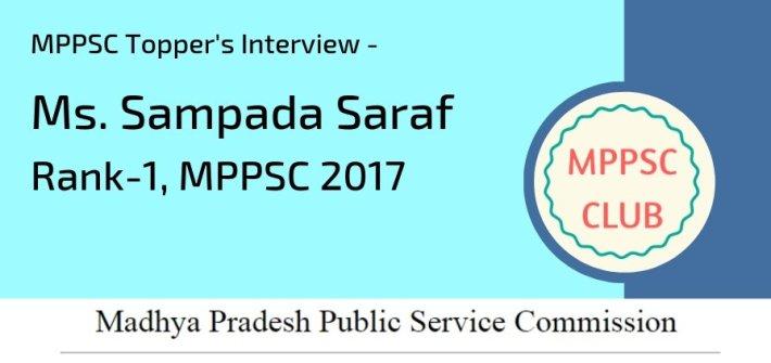Sampada Saraf MPPSC Topper