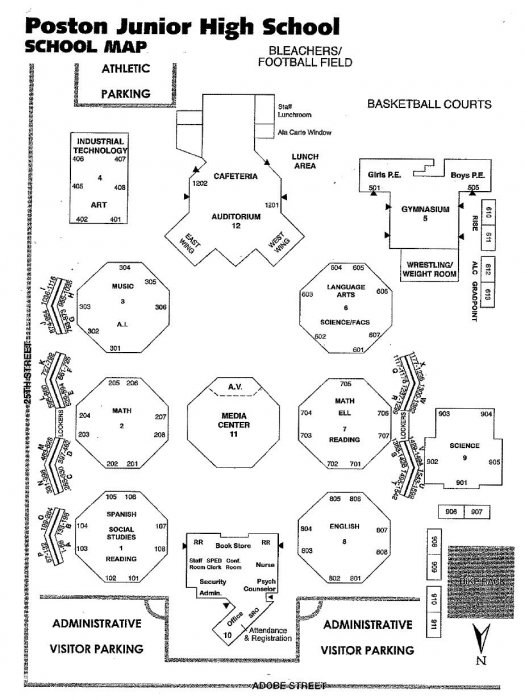 Poston Junior High School » Campus Map