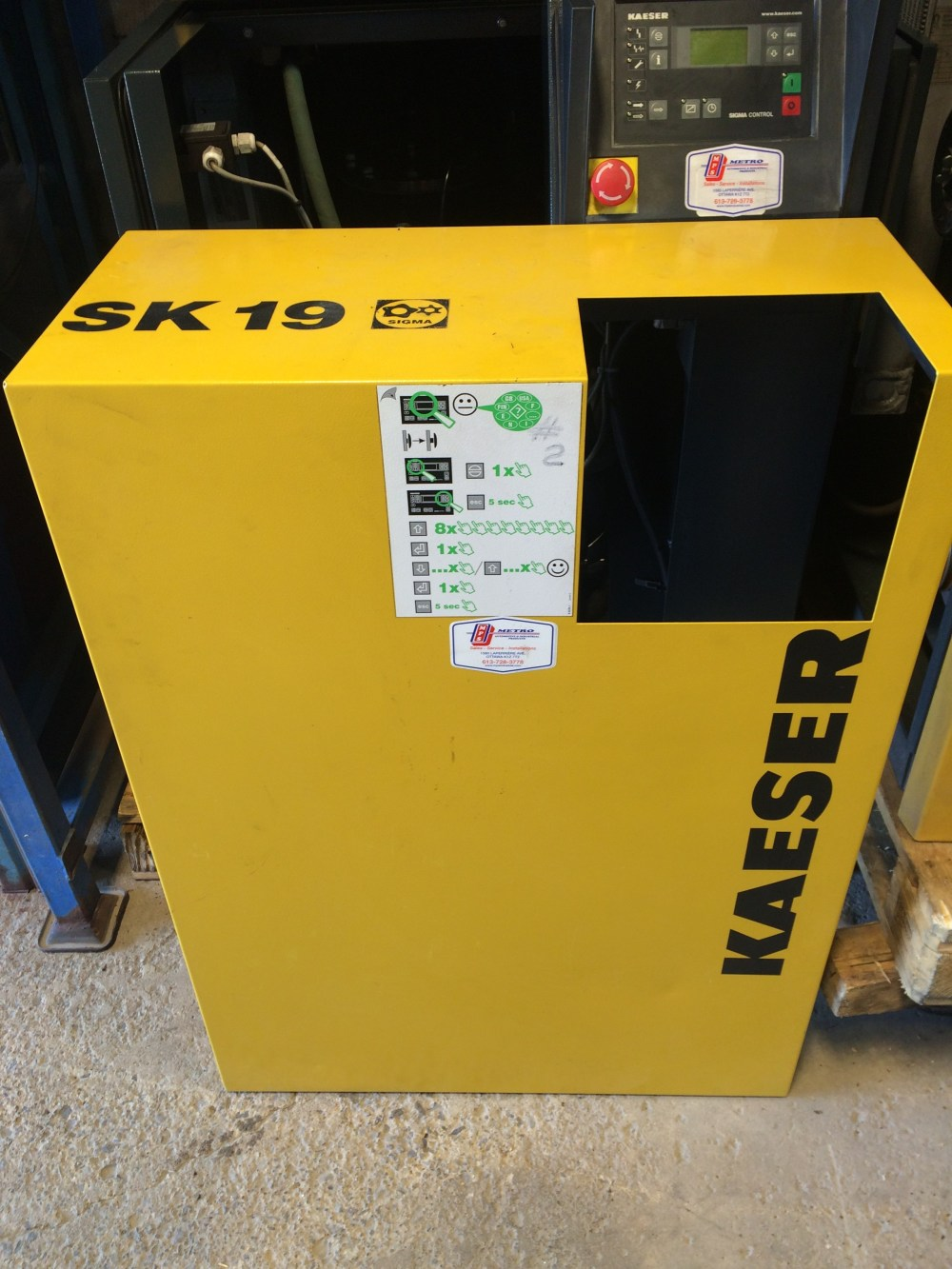 medium resolution of kaeser sk19 sold