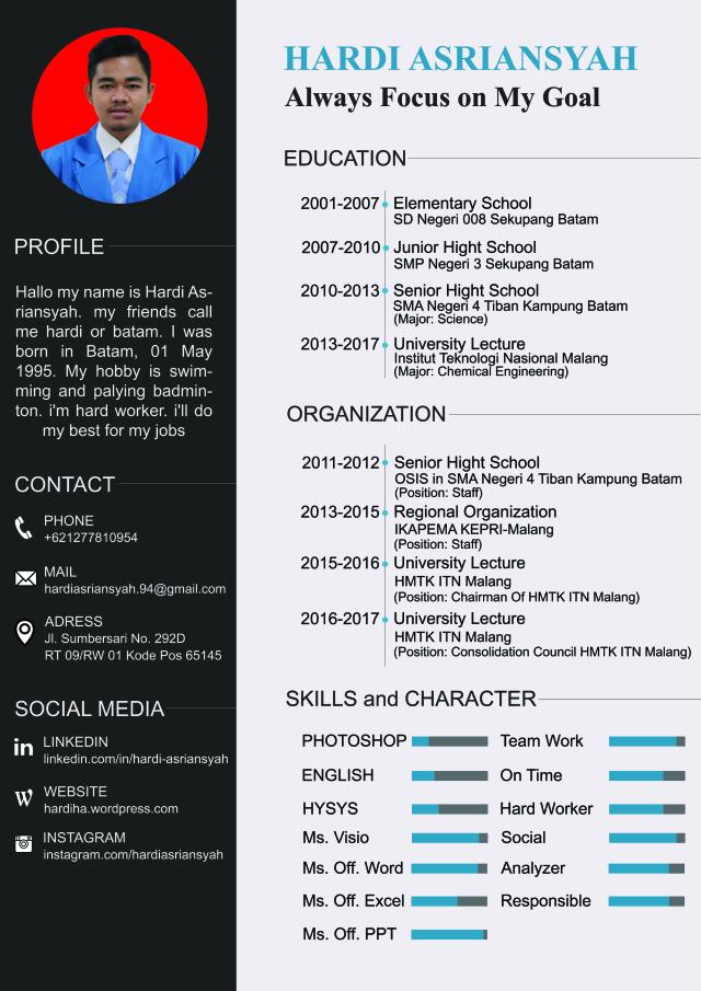 Contoh Curriculum Vitae Cv Kreatif Dan Menarik Lalod