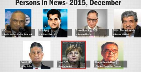 Persons in News December 2015