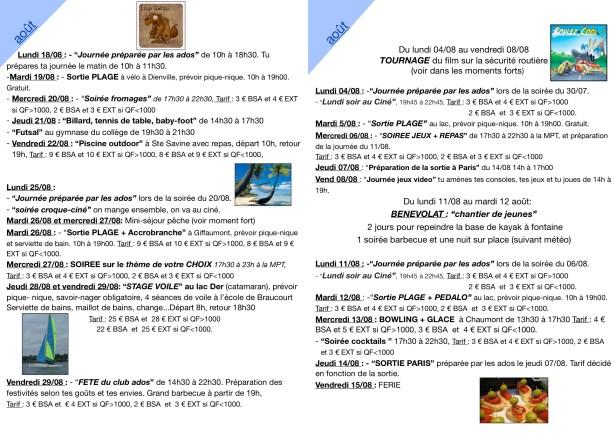 programme ete  2014 1