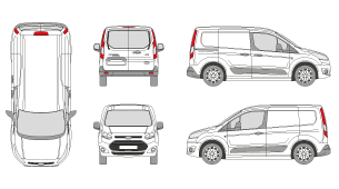 Ford transit connect vehicle outlines