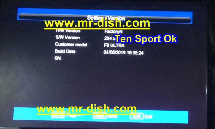 TIGER F8 ULTRA HD POWERVU SOFTWARE TENSPORT OK