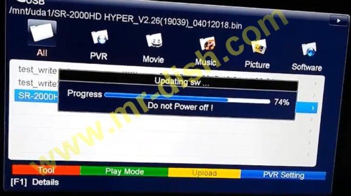 STARSAT SR-2000HD HYPER NEW POWERVU SOFTWARE UPDATE
