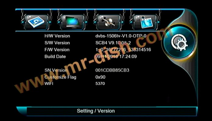 SCB4 MENU TYPE NEW SOFTWARE WITH APPLE IPTV OPTION