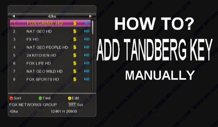ADD TANDBERG KEY MANUALLY