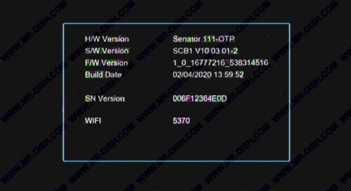 SENATOR 111 1506T SCB1 NEW SOFTWARE WITH ALFA PRO