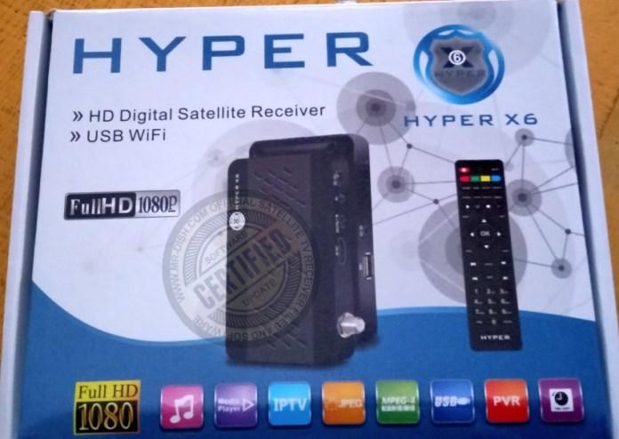 HYPER X6 1506TV RECEIVER NEW SOFTWARE