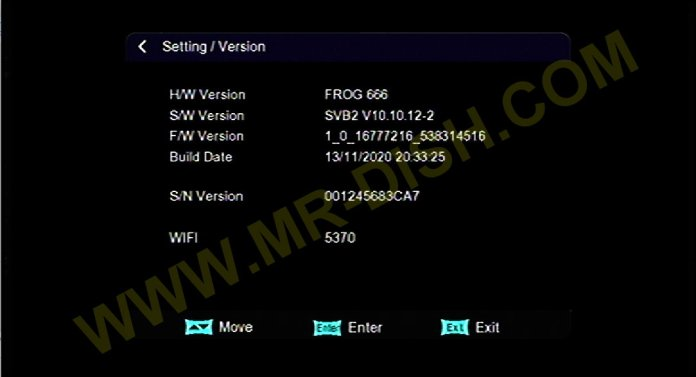 FROG 666 1506TV SVB2 NEW SOFTWARE Version SVB2 V10.10.12-2