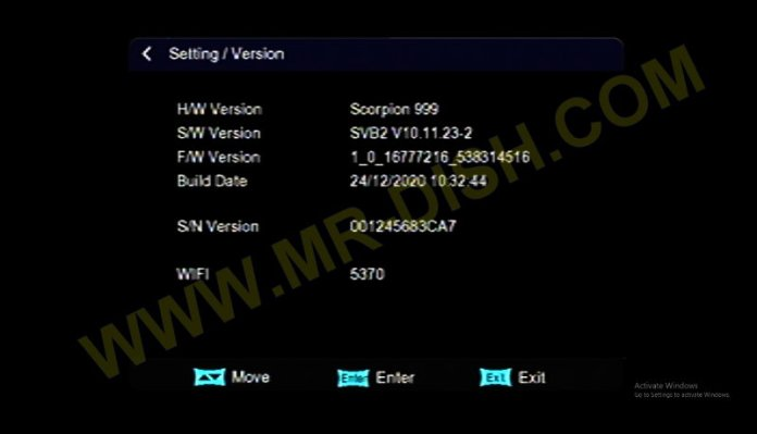 SCORPION 999 1506TV RECEIVER SVB2 SOFTWARE Detail