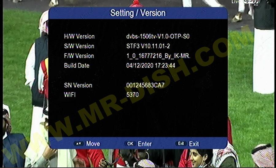 ECOLINK EI7000 NEXT 1506TV New STF3 Menu Software Version