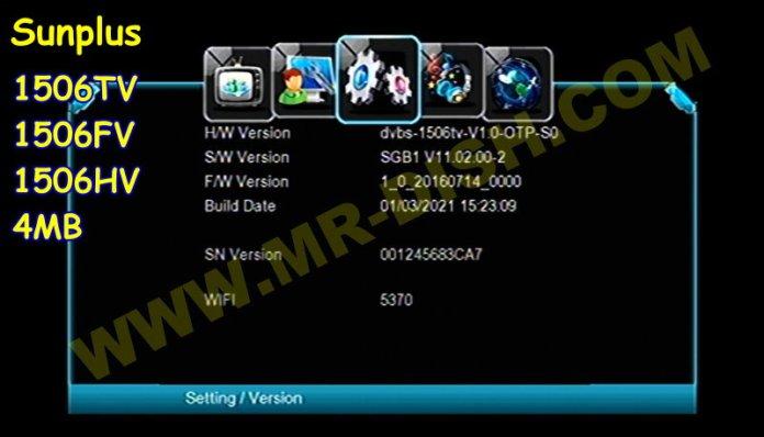 SUNPLUS 1506TV 4M SGB1 SGB1 NEW SOFTWARE V11.02.00