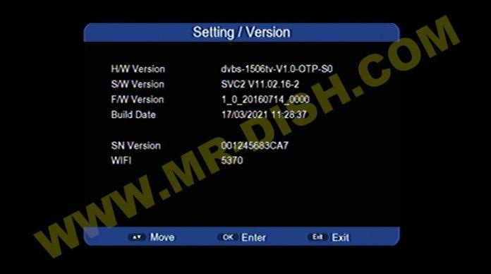 STAR NET 9000 1506TV SVC2 SOFTWARE VERSION