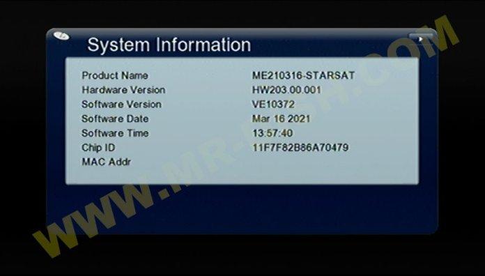 GX6605S ALL HW203 STARSAT Version