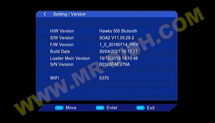 HAWKS 555 BLUTOOTH 1506TV 8M NEW SOFTWARE V11.03.29-2