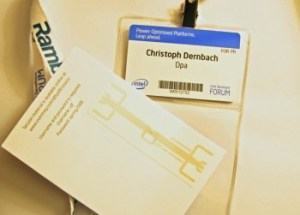 Presse-Badge mit RFID-Chip