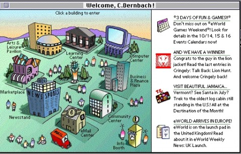 "Apple-Onlinedienst ""eWorld"" (1995)"