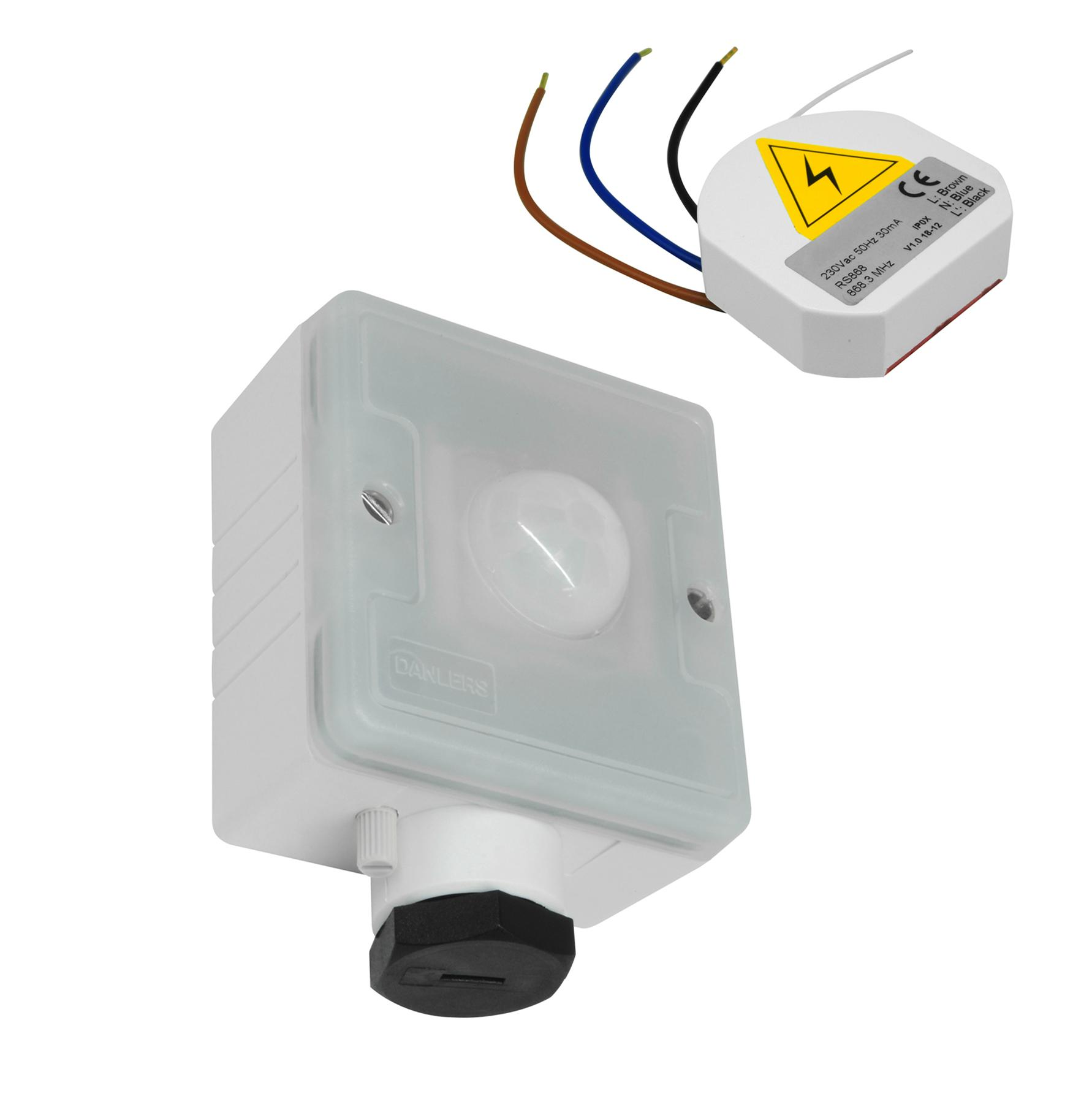 alarm pir wiring diagram uk electric light switch wireless compact person detector 240v 2 channel
