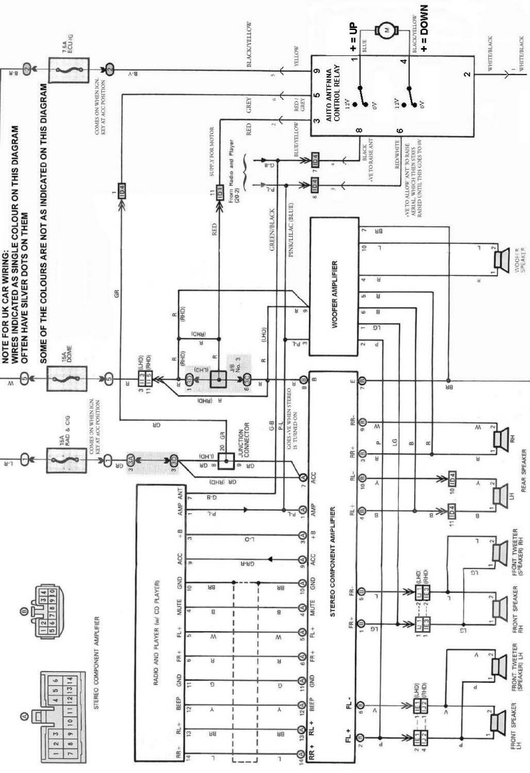 electric antenna wiring diagram 2003 ford f150 speaker knowledge base how to repair the aerial mr2 mkii