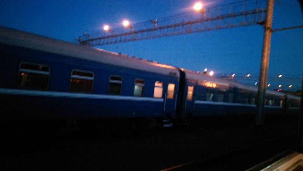 The sleeper train Poland > Belarus > Russia