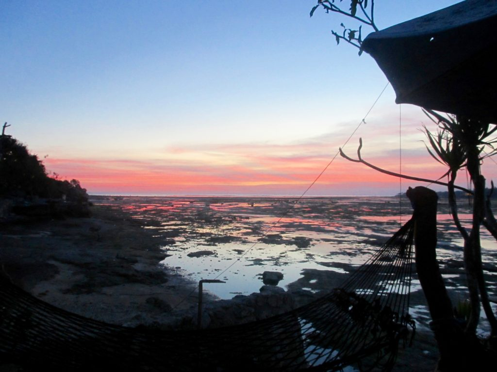 Amazing sunset, from a hammock on Nusa Ceningan