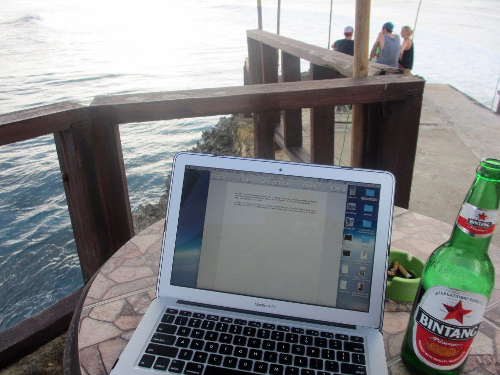 My clifftop office in Nusa Ceningan