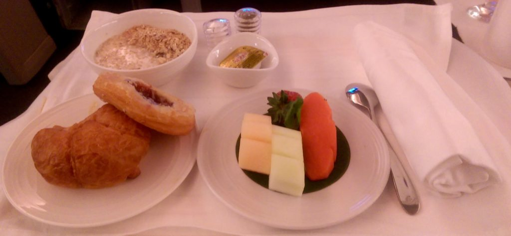 Even more Food on MAS Business Class!!