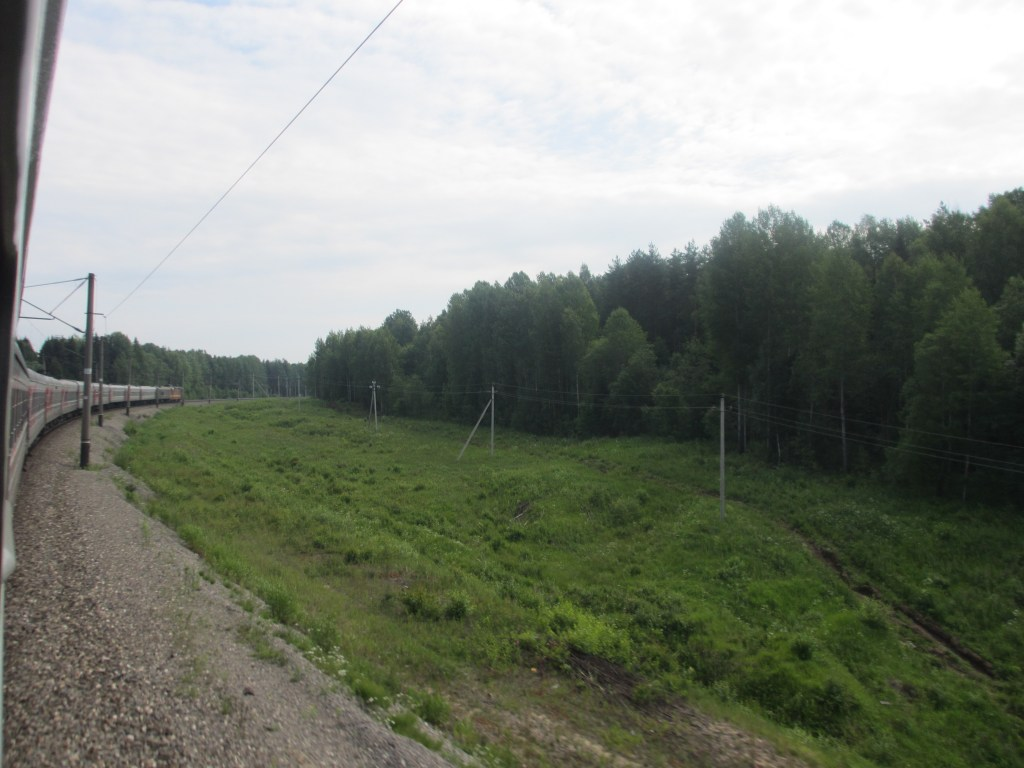 View of the Trans-Siberian Railway, from the train