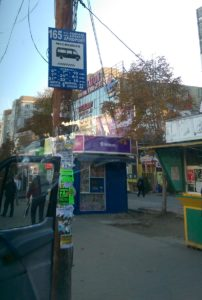 The bus stop to Chisinau Airport