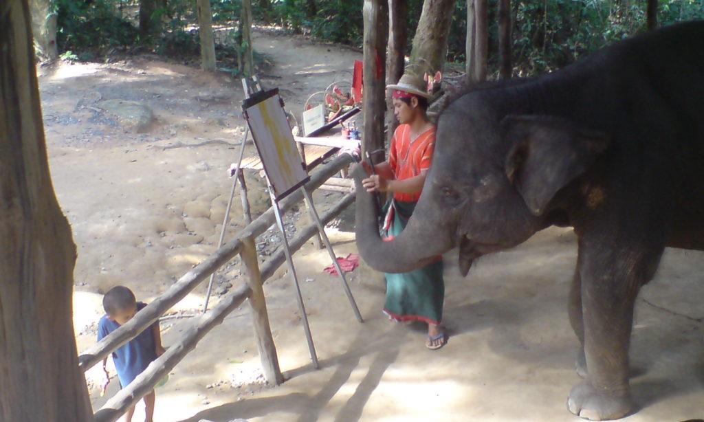 Painting elephant 2006