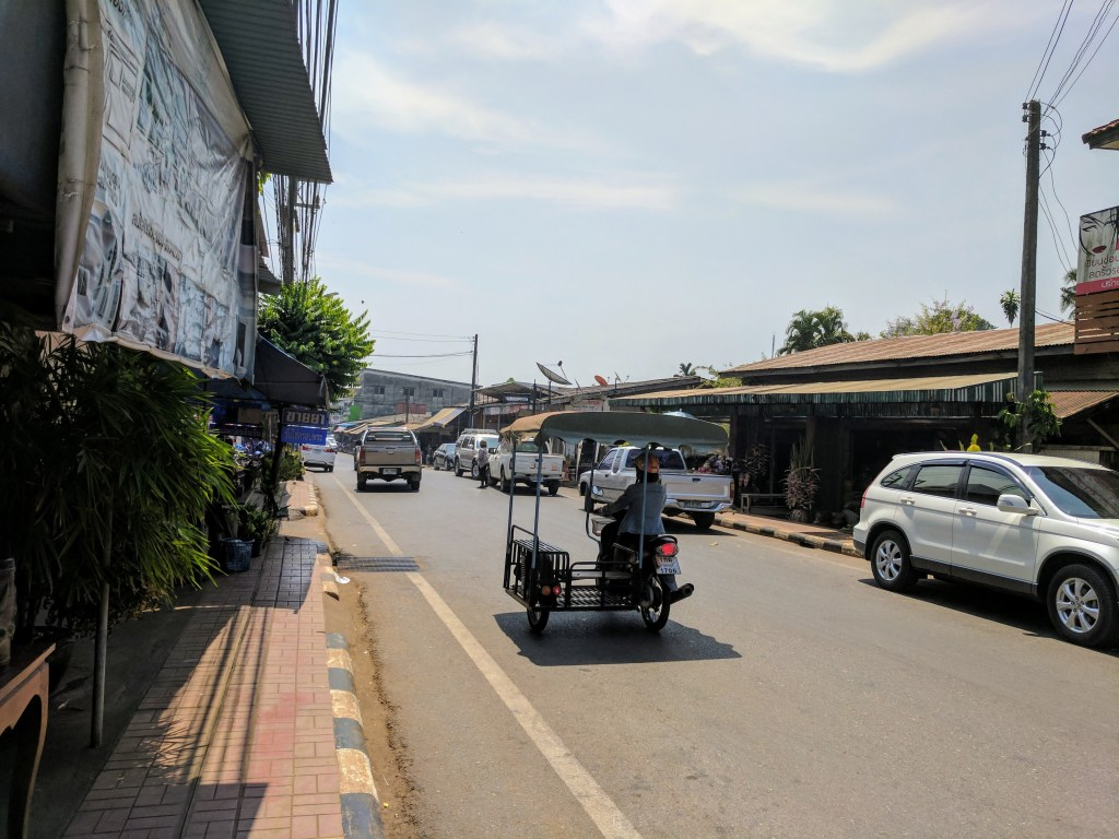 The mystery Thai town we ended up in, instead of Hellfire Pass!