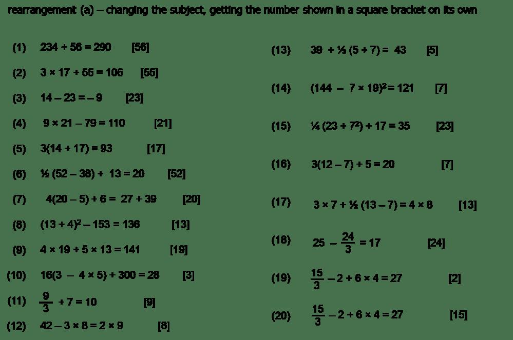 medium resolution of algebra worksheet: NEW 286 ALGEBRA BODMAS WORKSHEET
