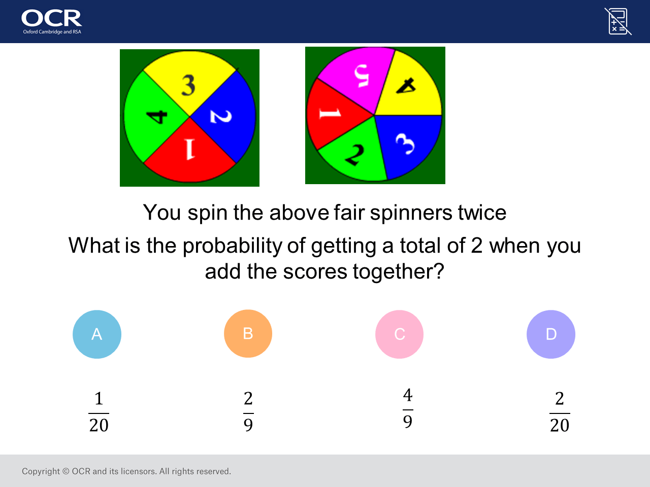 Probability Of Combined Events Gcse Maths Question Of The