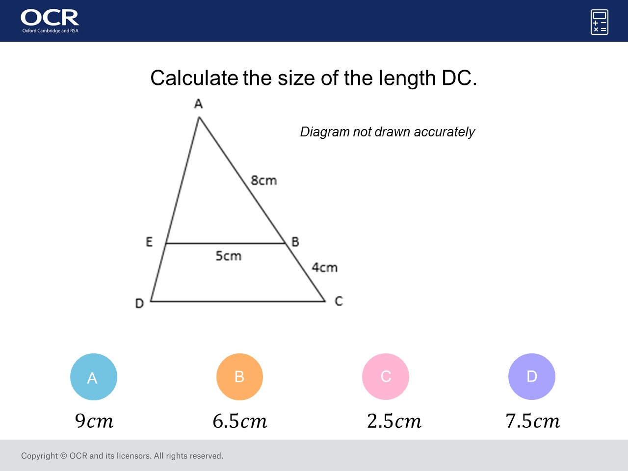 Similar Shapes Foundation Higher Gcse Maths Question Of
