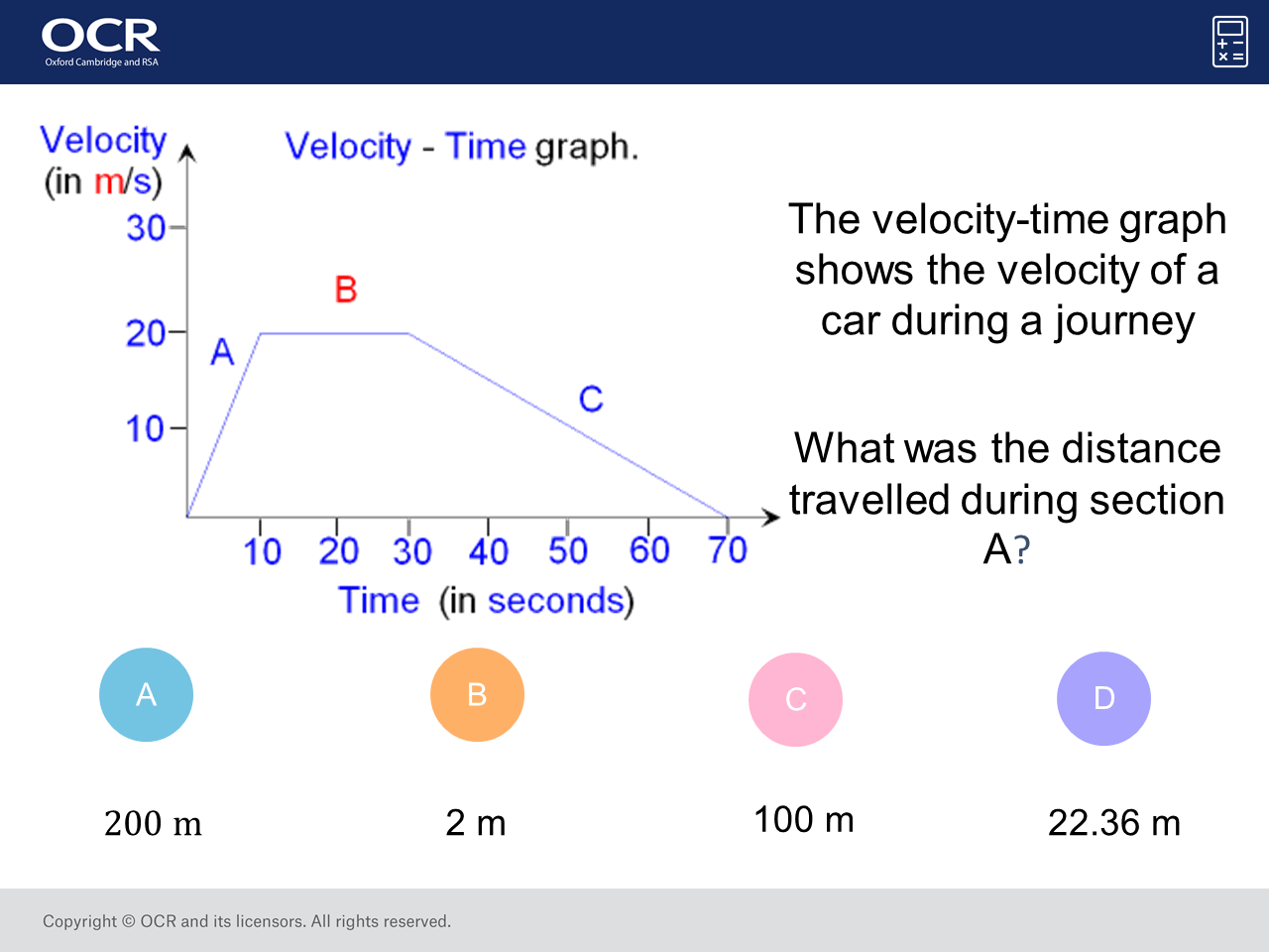 Distance From A Veolcity Time Graph Higher Gcse Maths Question Of The Week On Mr Barton Maths