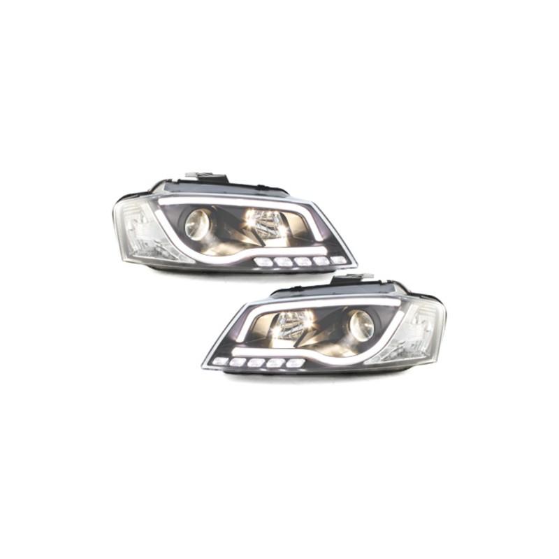 PHARES NOIR LIGHTBAR LED AUDI A3 8P 08-12 AUDI A3 8P 08-12