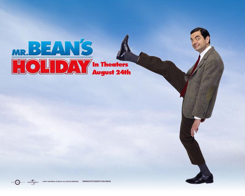 Mr Bean's Holiday Wallpaper - Lifting Leg High