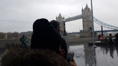 Why photo Tower Bridge when you can capture people who have no awareness of anyone around them? (he says bitterly) Copyright MrBert