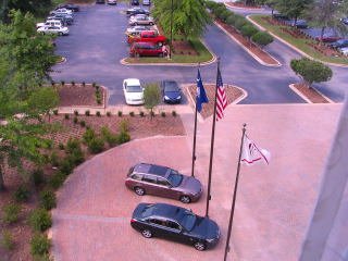 View from room at Marriott Greenville