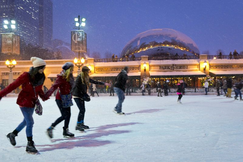 McCormick Tribune Skating Rink Chicago