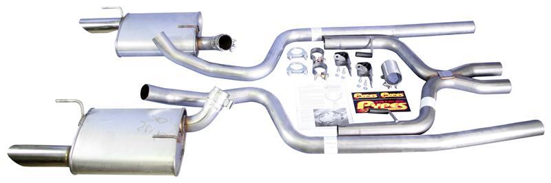 2005 09 mustang v6 dual exhaust kit w