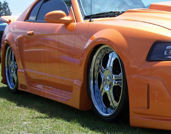 1999 2004 mustang side skirts