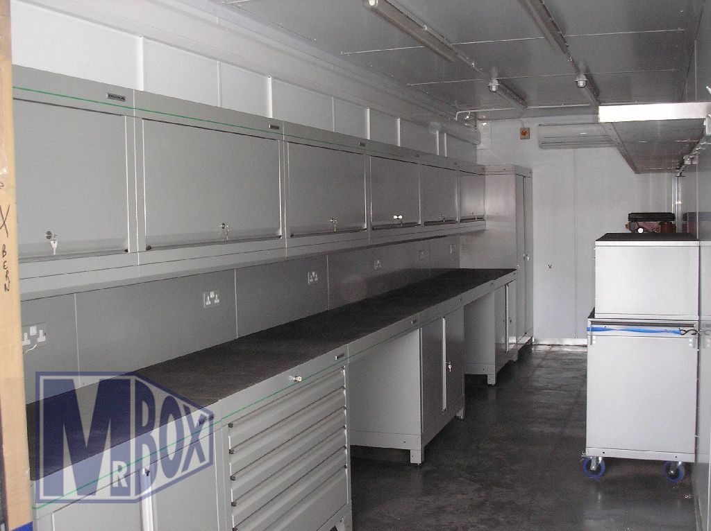 British Olympic Sailing Team Workshop Container Conversion