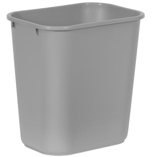 Rubbermaid Desk Trash Can Gray  Recycling Bins  MrBoxOnline