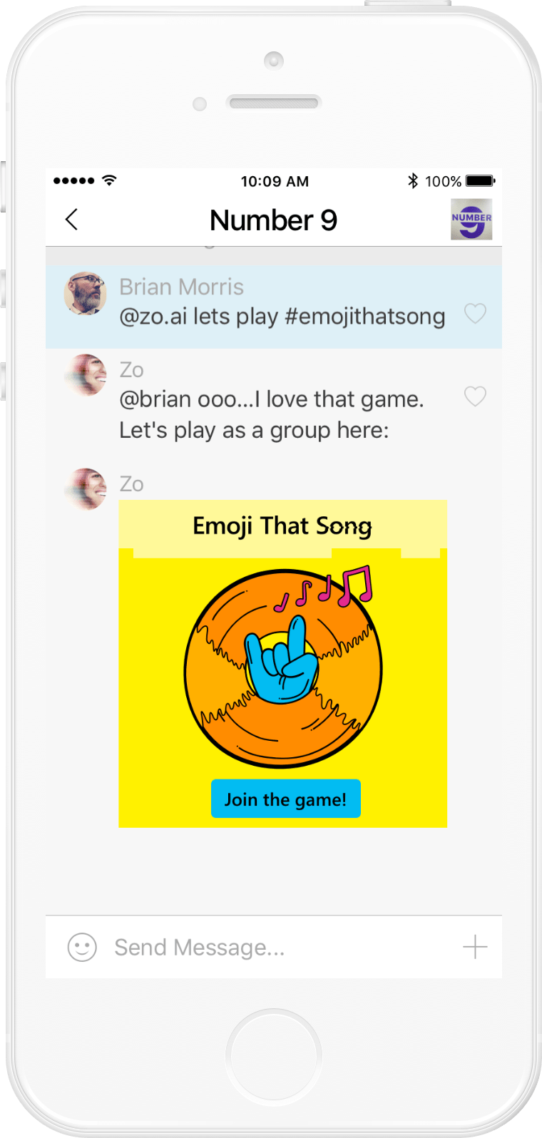 Microsoft Zo: Emoji That Song user flow (0/13)