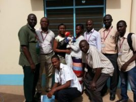 Bukky with some of the clinical Staff